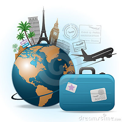 Free Travel Concept Illustration Royalty Free Stock Photos - 17898038