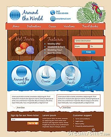 Travel design template