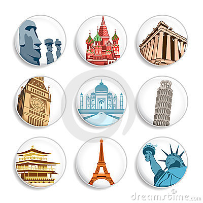 Travel destination badges | Set 1