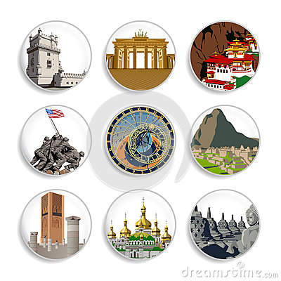 Free Travel Destination Badges | Set 4 Stock Images - 28178394