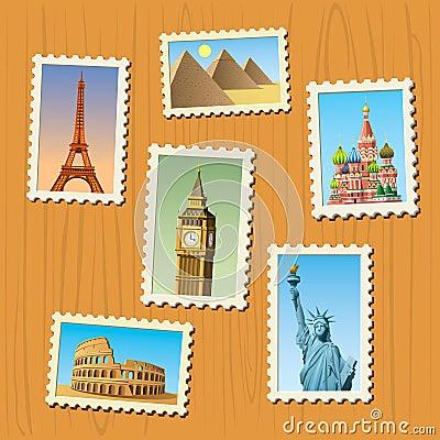 Travel destinations atamps