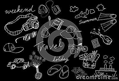 Travel drawing sketch