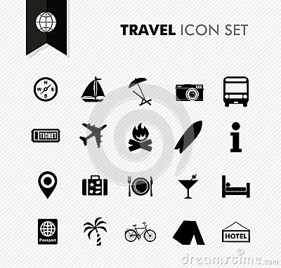 Free Travel Fresh Icon Set. Stock Photo - 33271820