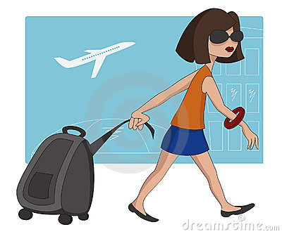 Travel girl at the airport