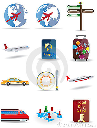 Travel and globe icons