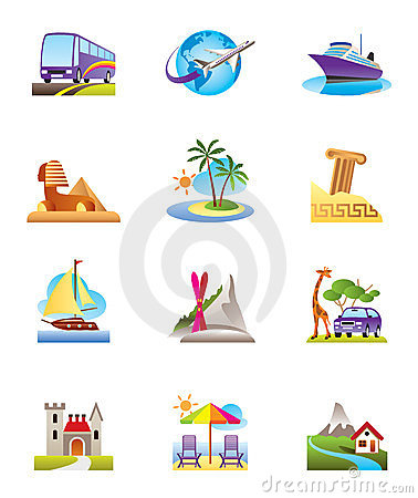 Travel, holidays and vacation icon