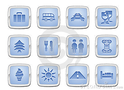 Travel Icon Set Royalty Free Stock Images - Image: 17516039