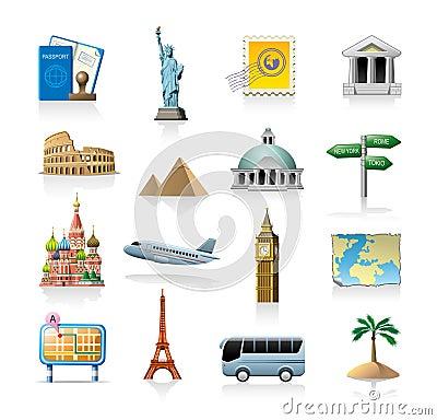 Free Travel Icon Set Stock Image - 21171191