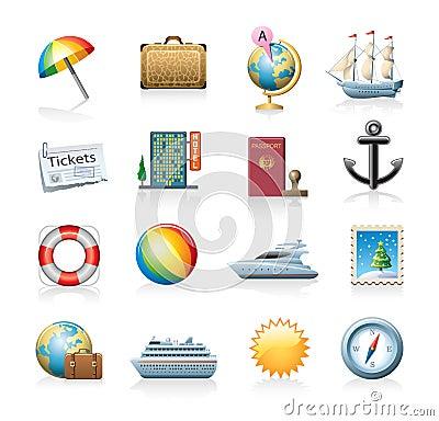 Free Travel Icon Set Stock Images - 21171194