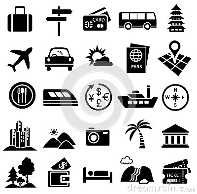 Free Travel Icon Set Royalty Free Stock Images - 50971309