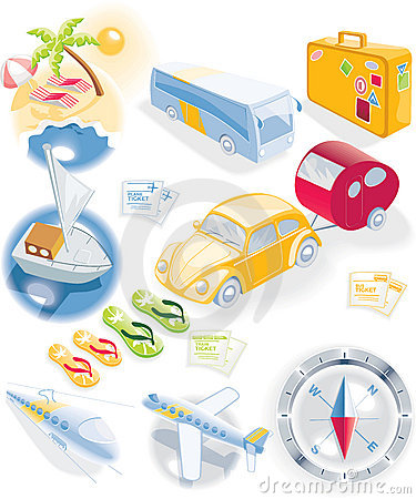 Free Travel Icon Set Stock Images - 8164474