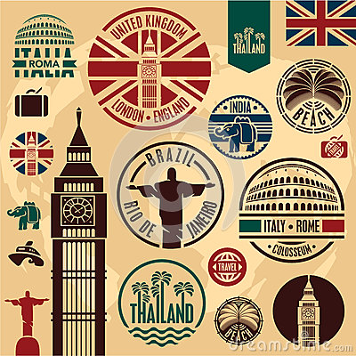Free Travel Icons. Royalty Free Stock Photo - 30456415
