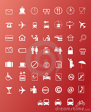 Free Travel Icons Stock Photo - 8636860
