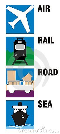 Travel Icons - Air, Rail, Road