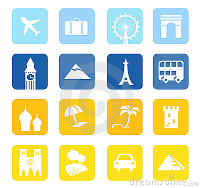 Travel icons and landmarks big collection.