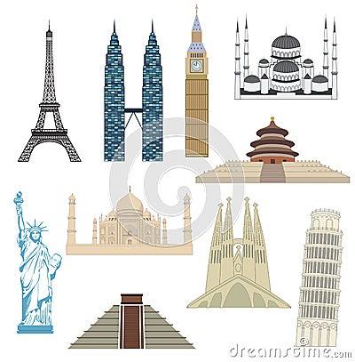 Free Travel Icons Set Royalty Free Stock Image - 30378456