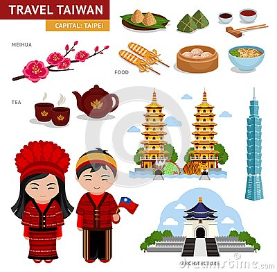 Free Travel In Taiwan. Taiwanese In National Costumes. Royalty Free Stock Photography - 122073887