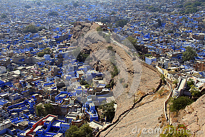 Travel India: General view of jodhpuri blue houses from the fort
