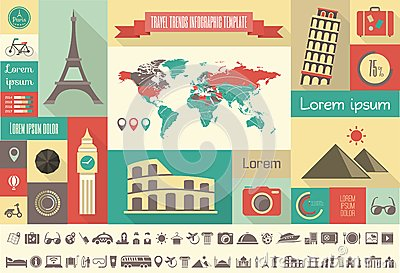 Travel Infographic Template. Royalty Free Stock Photography ...
