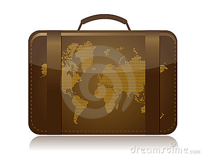 Travel luggage illustration concept