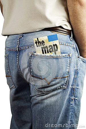 Travel map in back pocket