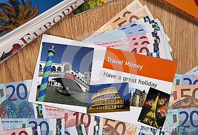 Travel Money - Europe - Vacation Editorial Photography