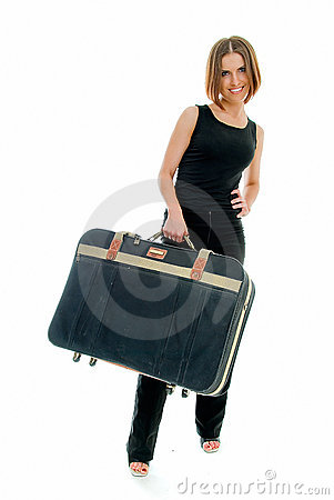 Travel with old suitcase