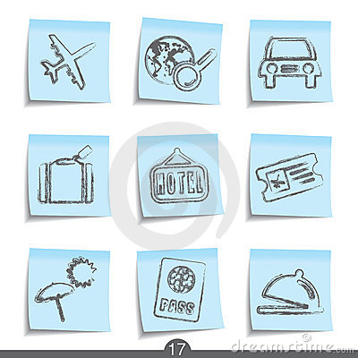 Travel post it icons..series no.17