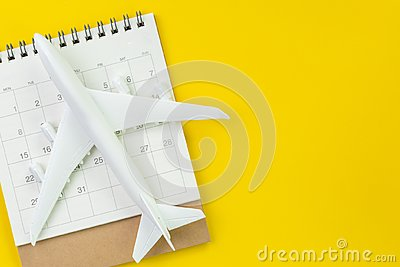 Travel schedule or planning, tourist, vacation, flat lay or top Stock Photo
