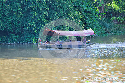 Travel Ship of  mae ping river cruise Editorial Image