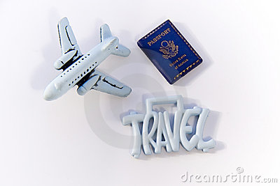 Travel Sign with Plane
