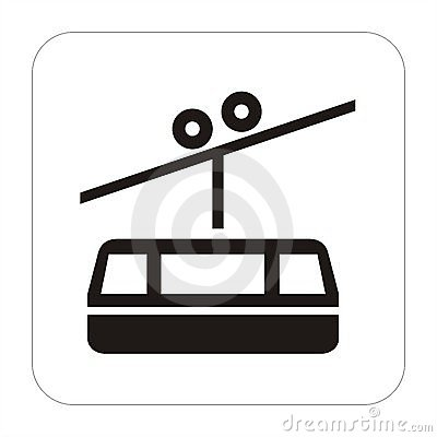 Travel sign- Ropeway conveyor