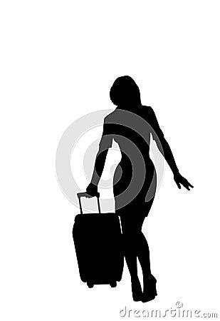 Travel silhouette