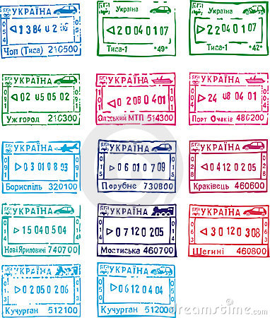 Travel stamps of ukraine