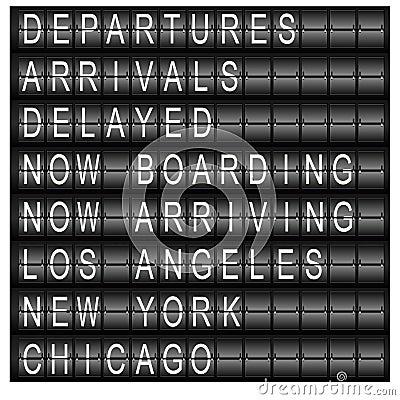 Travel Station Schedule Board