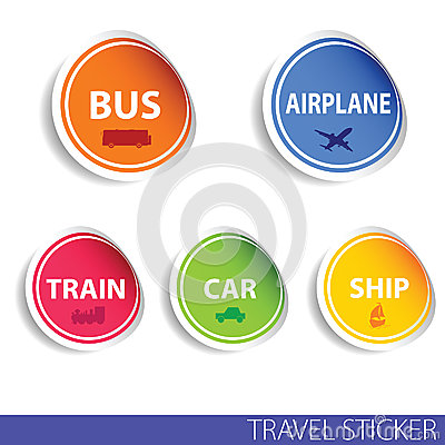 Free Travel Sticker Color Vector Stock Photography - 51895592