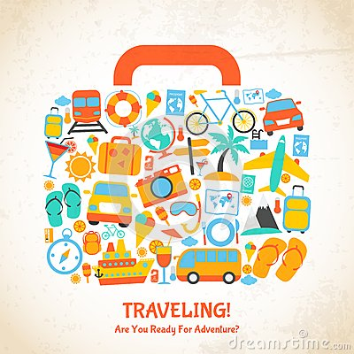 Free Travel Suitcase Concept Stock Photography - 43967982