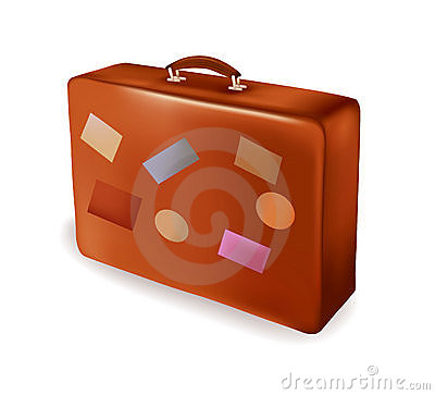 Travel suitcase. Vector.
