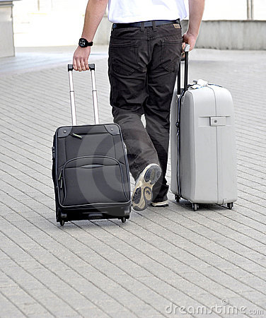 Travel with suitcases