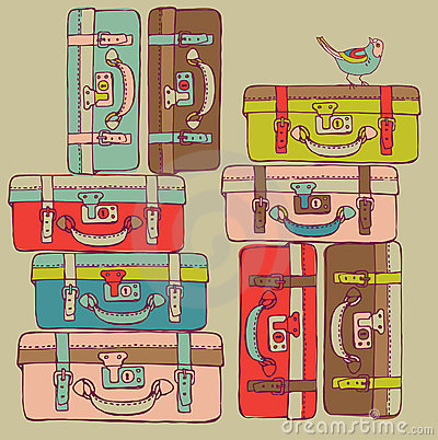 Free Travel Suitcases Royalty Free Stock Image - 16096946