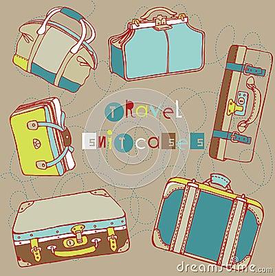 Travel suitcases