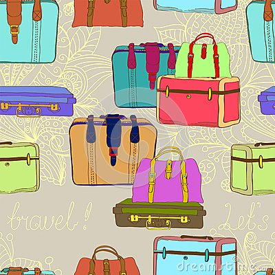 Travel suitcases seamless