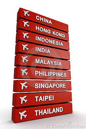 Travel to Asia concept