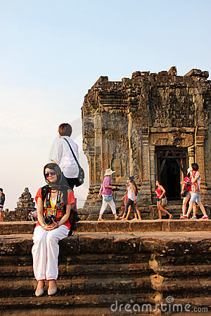 Travel to Phnom Bakheng Editorial Image