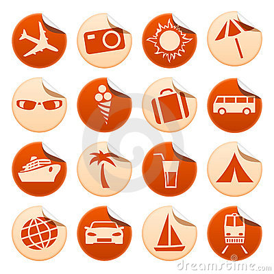 Free Travel & Tourism Stickers Royalty Free Stock Image - 10676546