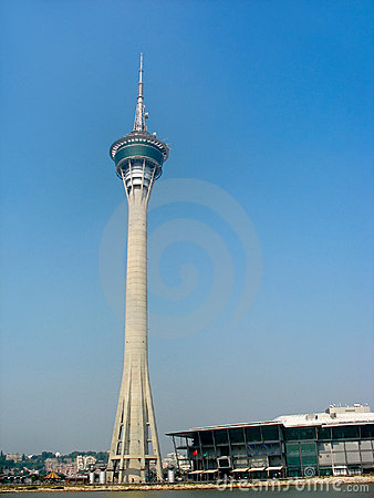 Travel tower in Macao Editorial Image
