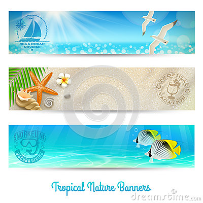 Travel and vacation banners