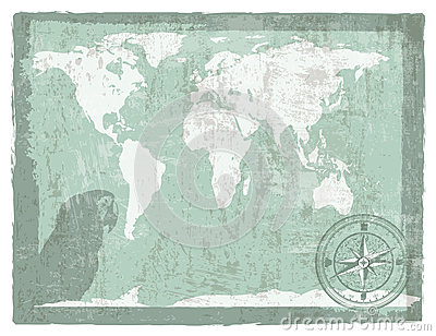 Travel vintage background