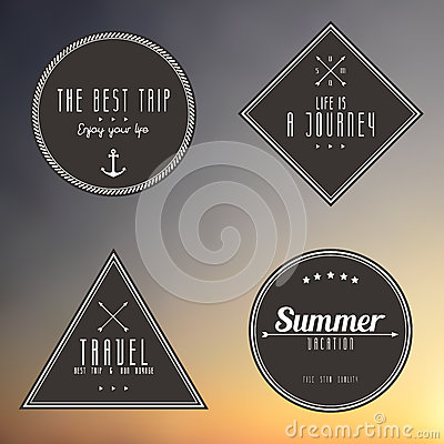 Travel vintage label on gradient background