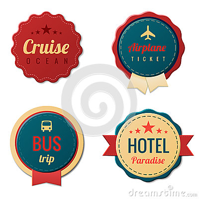 Travel Vintage Labels template collection. Tourism